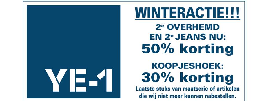 Winteractie bij Ye-1menswear