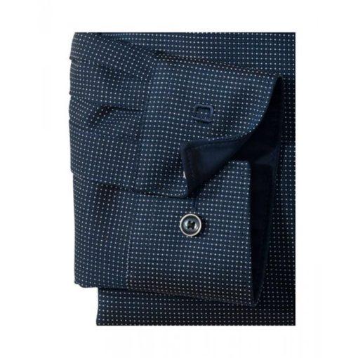 OLYMP Modern Fit overhemd, blauw dessin (contrast) j style menswear