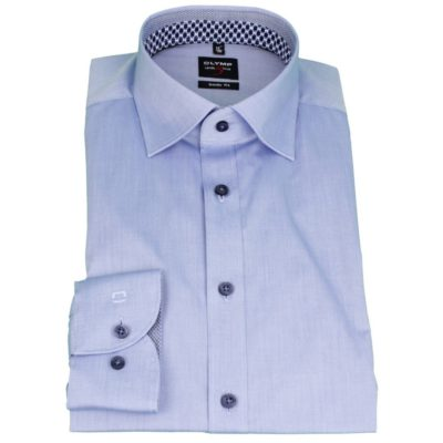 olymp bodyfit licht blauw overhemd j style menswear