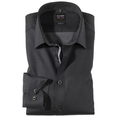 olymp bodyfit overhemd antraciet j style menswear