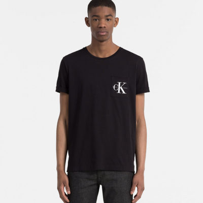 t-shirt calvin klein logo borstzak j style menswear yerseke