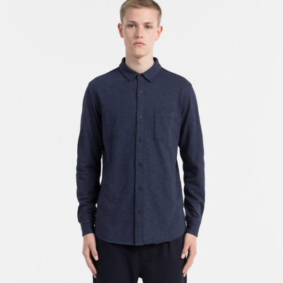 overhemd calvin klein blues heather j style menswear yerseke