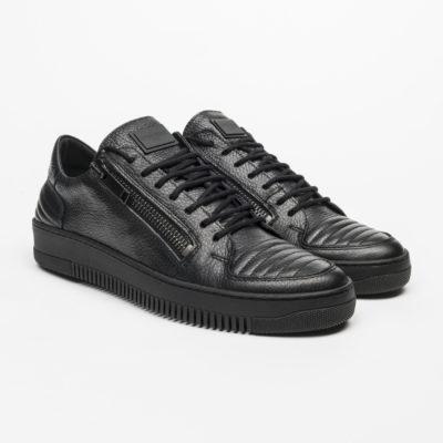 Zwarte Antony Morato Sneakers met ritsen j style menswear yerseke