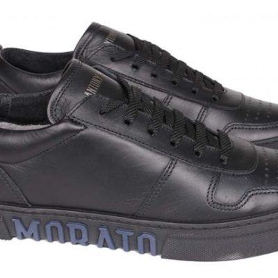antony morato schoenen zwart met blauwe logo op zool j style menswear yerseke