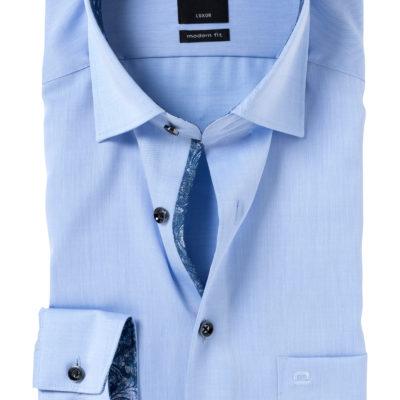 OLYMP Modern Fit overhemd, lichtblauw twill (contrast) j style menswear