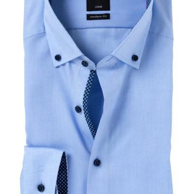 OLYMP Modern Fit overhemd, blauw fijn Oxford j style menswear