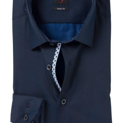 olymp overhemd donkerblauw bodyfit j style menswear