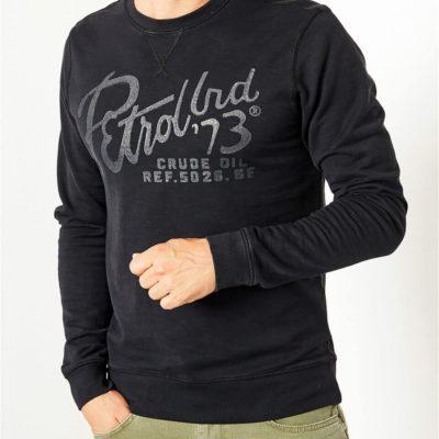Petrol industries sweater logo zwart j style menswear yerseke