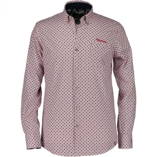 State of Art Racing 'La Carrera' overhemd + ruit wit/rood