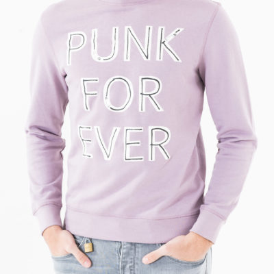 Antony Morato sweater ronde hals met lettering Punk for Ever