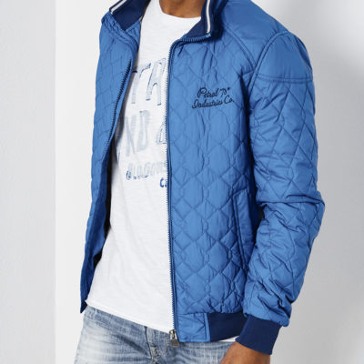 Petrol Industries jas sporty quilted daytona-blue