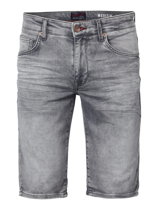 Petrol Industries jogg jeans short grijs