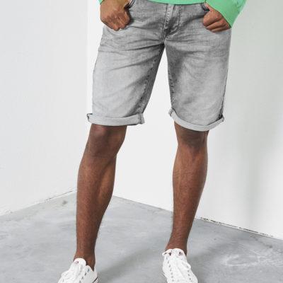Petrol Industries jogg jeans short grijs