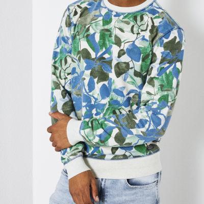 Petrol Industries sweater botanische print deep-sea