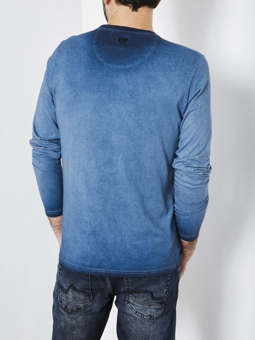 Petrol Industries t-shirt lange mouwen faded royal blue
