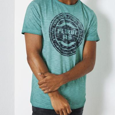 Petrol Industries t-shirt ronde hals petrollogo melee lizard-green