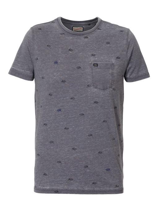 Petrol Industries t-shirt ronde hals vintage bankschroef stone-blue