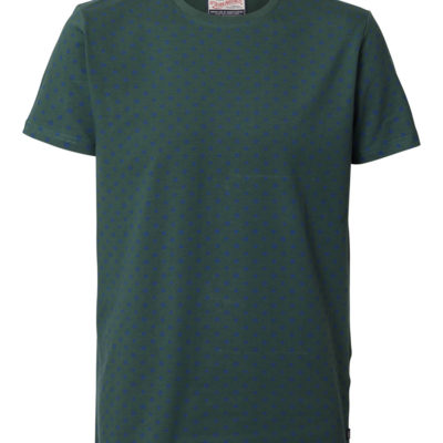 Petrol Industries t-shirt ronde hals hexagon-print night green