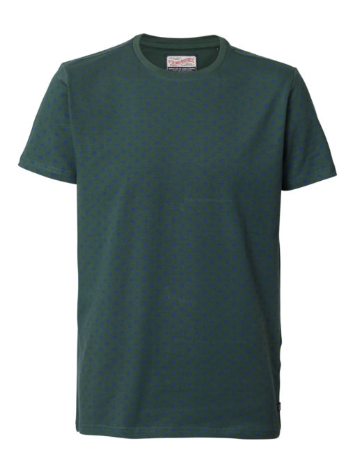 Petrol Industries t-shirt ronde hals hexagon-print night green