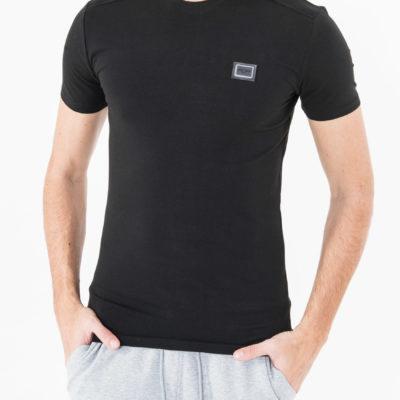 Antony Morato Slim-fit T-shirt met bies op de schouders zwart