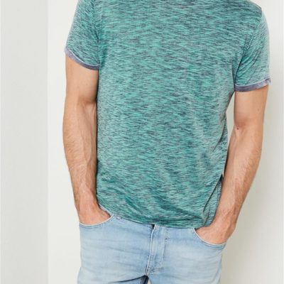 Petrol Industries t-shirt ronde hals melee lizard-green