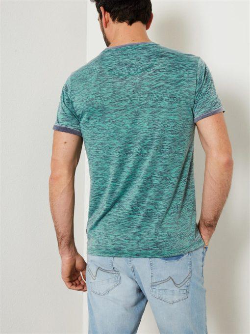 Petrol Industries t-shirt ronde hals melee lizard-green