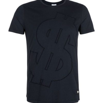 PUREWHITE DOLLAR SIGN T-SHIRT NAVY