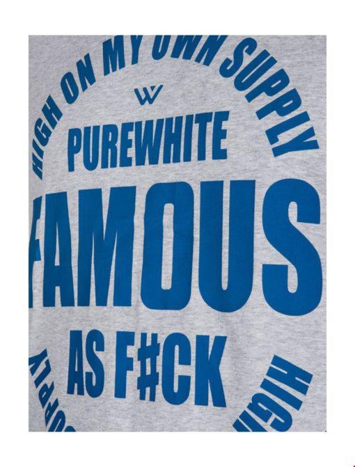 PUREWHITE FAMOUS AS F#CK T-SHIRT GREY