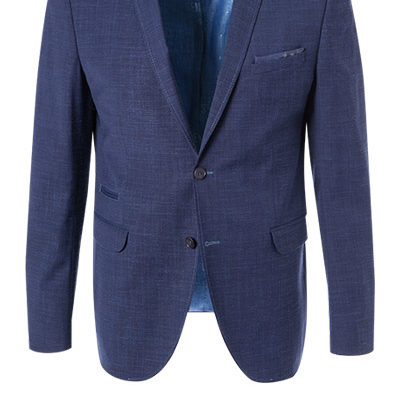 CG CLUB of GENTS colbert Slim Fit wol Mix donker blauw