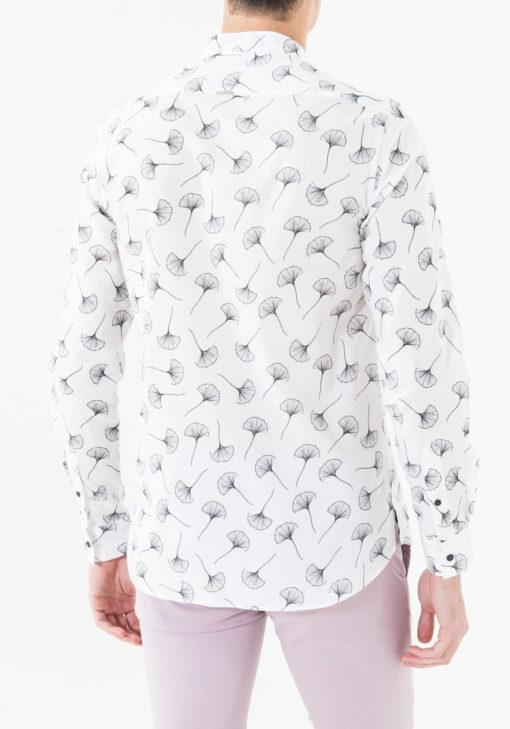 Antony Morato printed overhemd met mandarin kraag