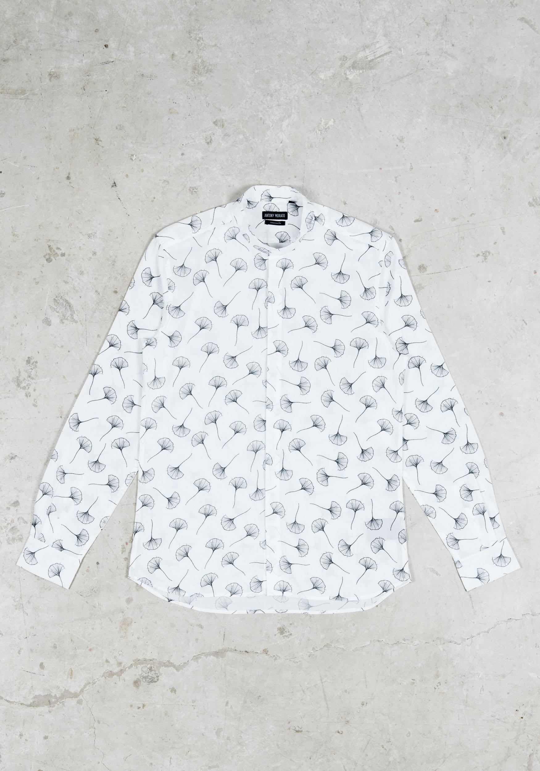 Met KraagJ Style Printed Antony Menswear Overhemd Morato Mandarin b7yI6vmYfg
