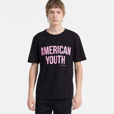 CALVIN KLEIN JEANS T-shirt met print AMERICAN YOUTH