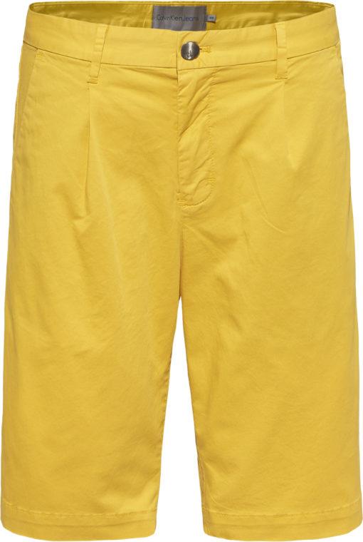 CALVIN KLEIN JEANS Stretch twill chino korte broek spectra yellow