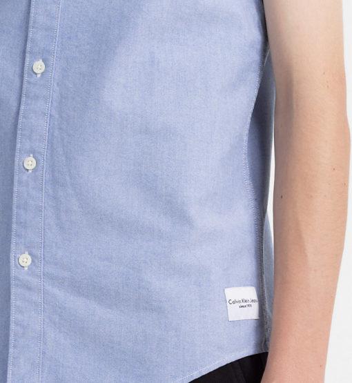 CALVIN KLEIN JEANS Oxford overhemd met korte mouwen baleine blue