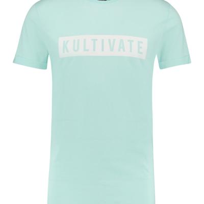 Kultivate T-shirt KV bleached aqua