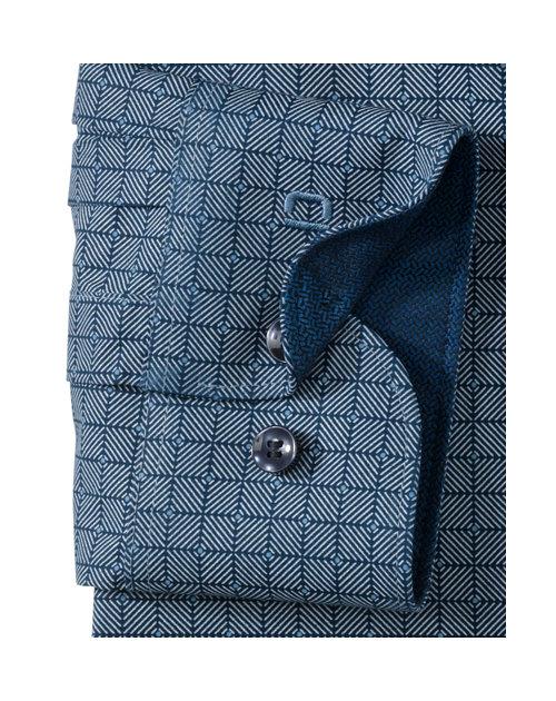 OLYMP Level Five, body fit, Button-Under, Marineblauw