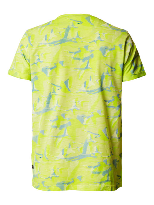 Petrol Industries t-shirt ronde hals print safety yellow