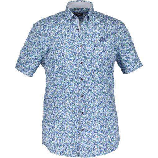 State of Art Overhemd met medium Button Down donker lime/kobalt
