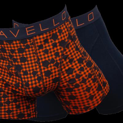 Cavello Boxershort 2-pack CB19004 zwart oranje print