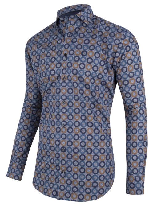 Cavallaro Napoli Renzo Shirt Blauw