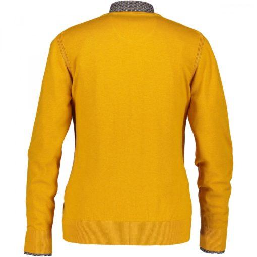 State of Art Fijngebreide trui van katoen zwavelgeel