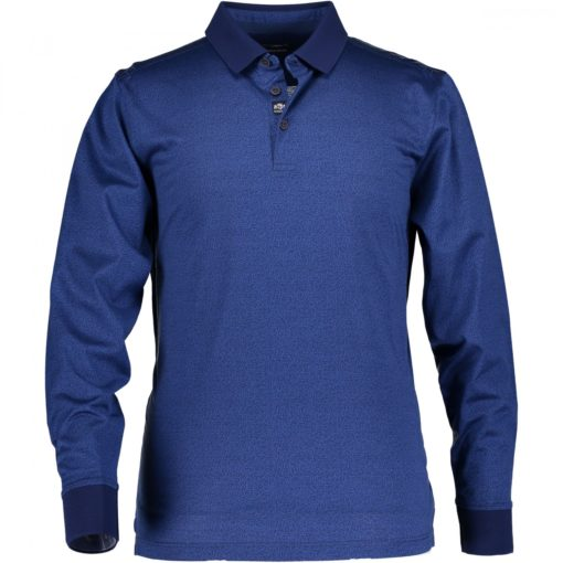 State of Art Fancy poloshirt met lange mouwen kobalt