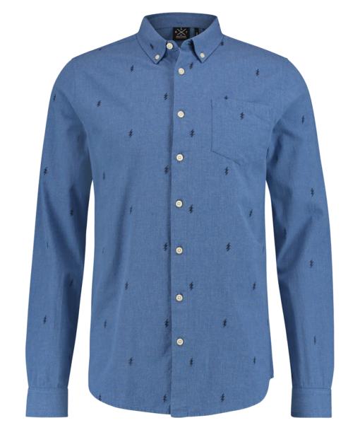 Kultivate Overhemd BOLT Pale Blue Melange