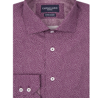Cavallaro Napoli Vittore Shirt Paars