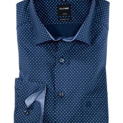 OLYMP Luxor, modern fit, Button-Under, Marineblauw