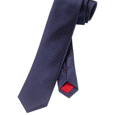 OLYMP Das, Slim (6 cm), Bruin/marine