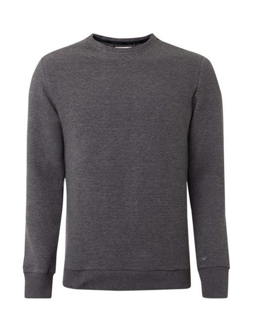 PUREWHITE Ribbed Sweater grijs