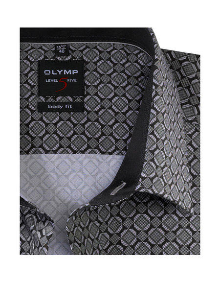 OLYMP Level Five, body fit, New York Kent, Zwart