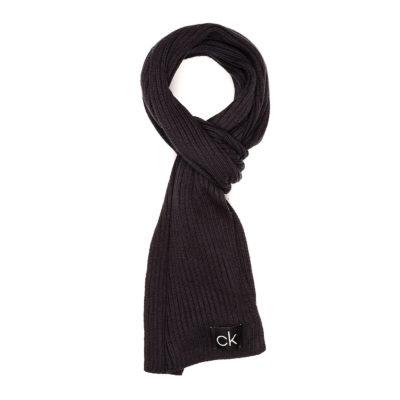 calvin klein basic black scarf