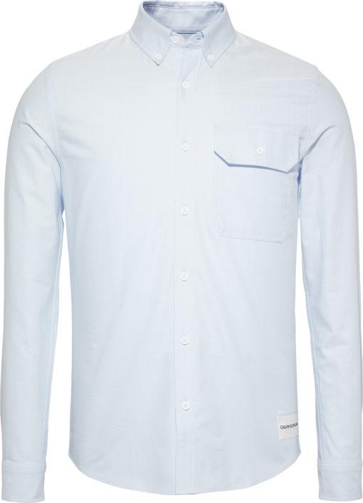 CALVIN KLEIN JEANS Slim oxford katoenen overhemd